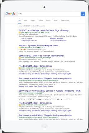 Catnapweb SEO Organic Results