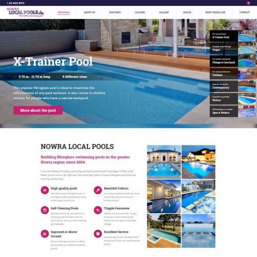 Catnapweb_Accomplished Digital Projects_Nowra Local Pools and Spas