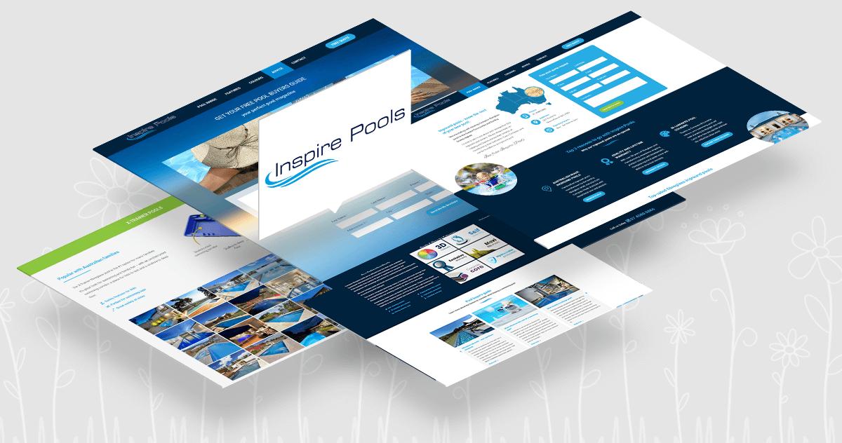 Catnapweb Inspire Pools Toowomba website project
